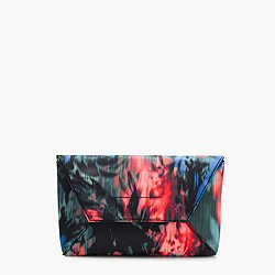 Envelope clutch in floral splash