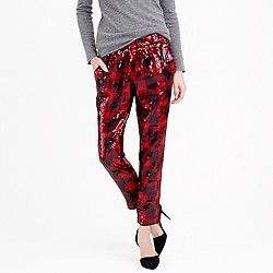 Collection sequin buffalo check pant