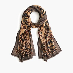 Drake's® Indian sunrise print scarf