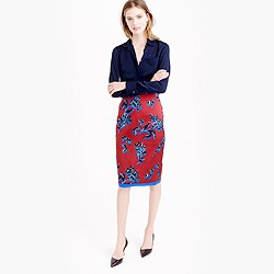 No. 2 pencil skirt in vibrant wildflower