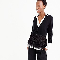 Collection feather cardigan sweater