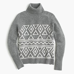 Fair Isle classic turtleneck sweater