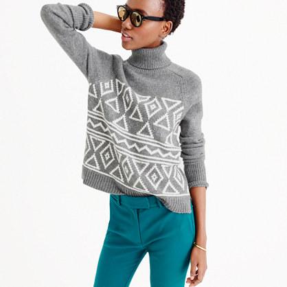 Fair Isle classic turtleneck sweater