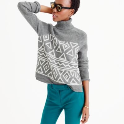 Fair Isle classic turtleneck sweater : Women Patterned | J.Crew