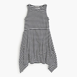 Girls' striped handkerchief dress