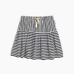 Girls' double-stripe pull-on skirt