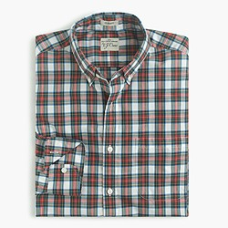 Secret Wash shirt in royal tartan