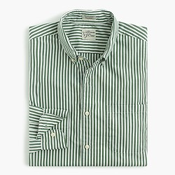 Secret Wash shirt in spring green stripe