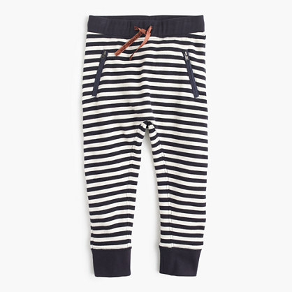 Girls' striped sweatpant