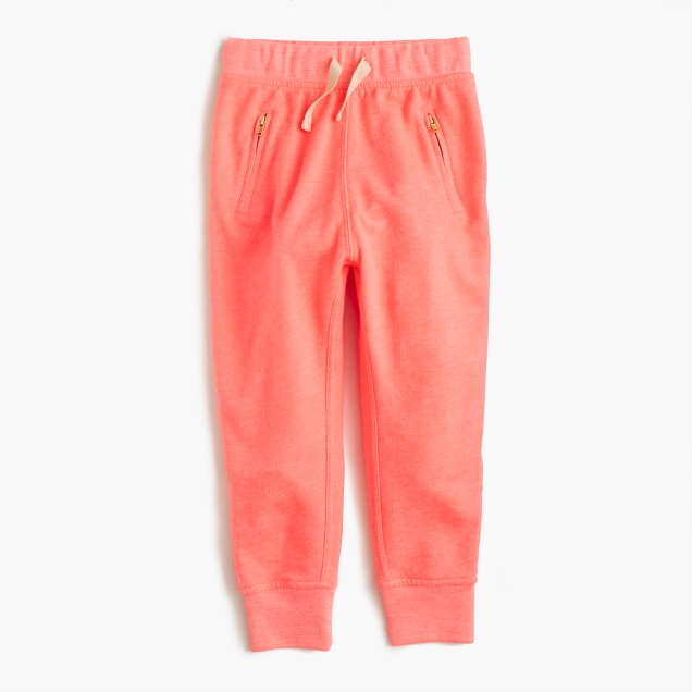 Girls' lightweight fleece sweatpant