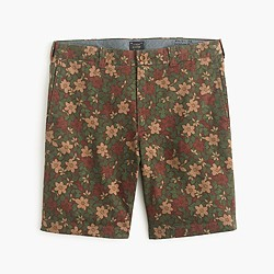 "9"" Stanton short in printed floral"