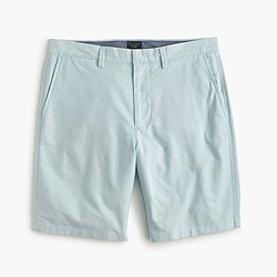 "9"" club short in oxford cloth in dusty aqua"