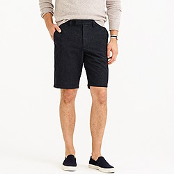 """10.5"""" club short in brushed cotton nailhead"""