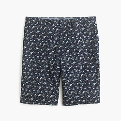 "10.5"" club short in blue floral"