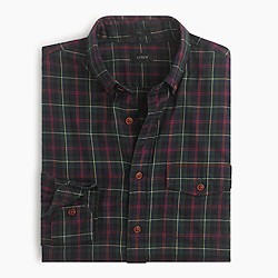 Slim brushed twill shirt in Declan plaid