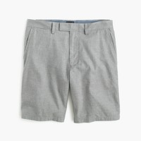 "9"" short in heathered cotton"