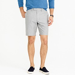 """9"""" club short in heathered cotton"""