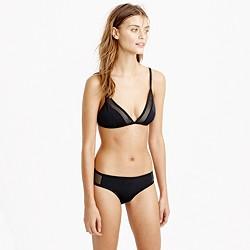 Mesh french bikini top