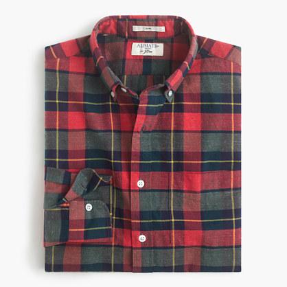 Albiate 1830 for J.Crew Ludlow shirt in Italian plaid