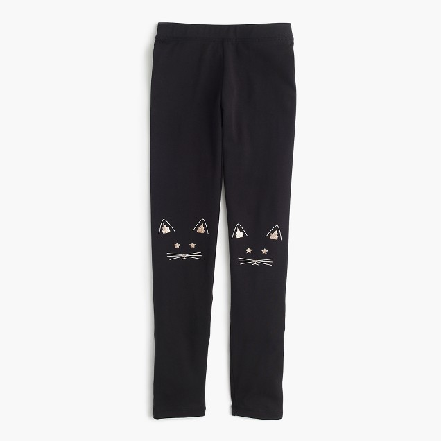 Girls' everyday legging in cat patch