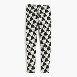 Girls' everyday legging in heart print