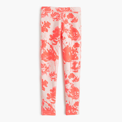 GIrls' cozy everyday legging in floral