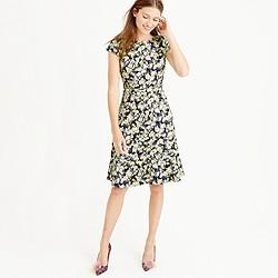 Cap-sleeve dress in clover