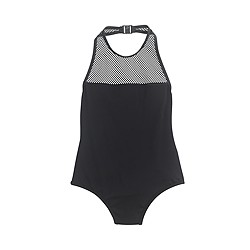 Mesh halter one-piece swimsuit