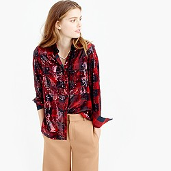 Collection sequin buffalo check shirt