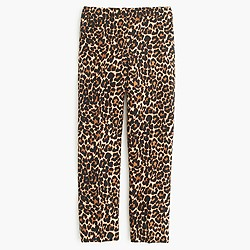 Collection wool-silk patio pant in leopard print