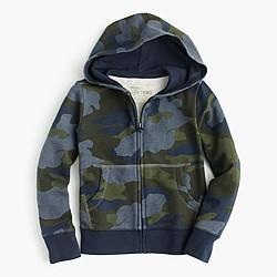 Boys' camo hoodie