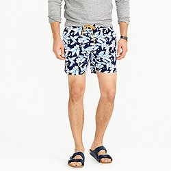 """6"""" swim trunk in graphic floral"""