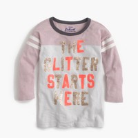 "Girls' ""the glitter starts here"" T-shirt"