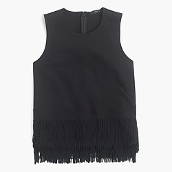 Knit top with fun fringe