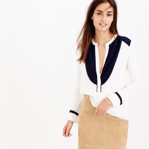 Collection luxe silk tuxedo shirt