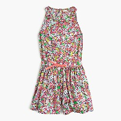 Girls' micro floral romper