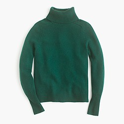 Petite classic turtleneck sweater in wool-cashmere blend
