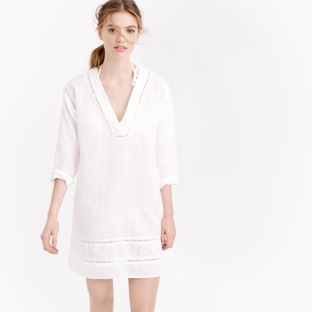 Embroidered linen tunic