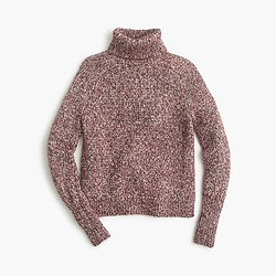 Marled classic turtleneck sweater