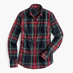 Petite perfect shirt in Stewart plaid