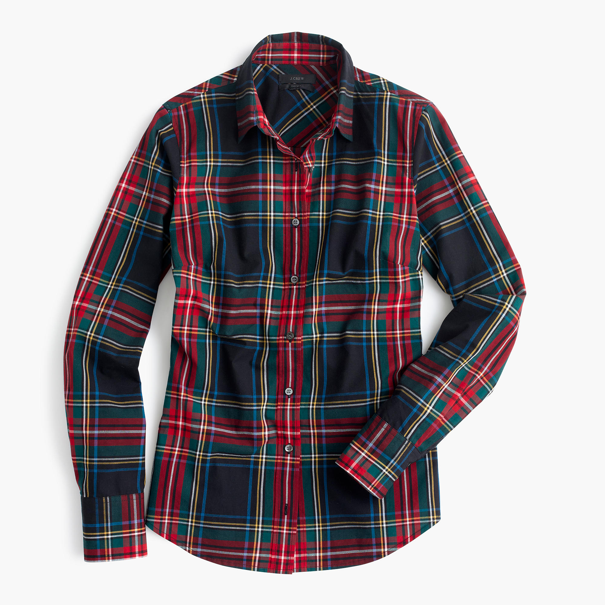 perfect shirt in stewart plaid women 39 s shirts j crew