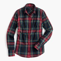 Tall perfect shirt in Stewart plaid