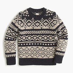 Boys' abstract Fair Isle sweater in lambswool