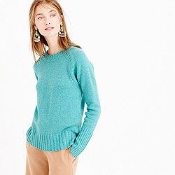 Italian cashmere saddle sweater