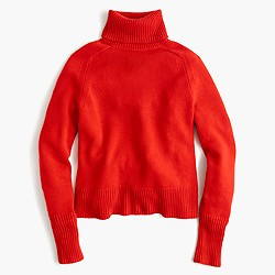 Italian cashmere ribbed turtleneck sweater
