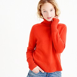 Collection cashmere ribbed turtleneck sweater