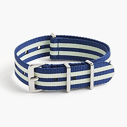 Boys' glow-in-the-dark striped watch strap