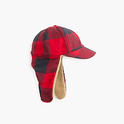 Boys' flannel trapper hat