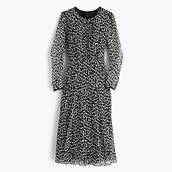 Collection chiffon dress in dalmatian print