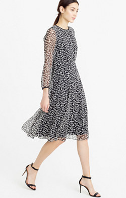 Collection chiffon dress in dalmatian print